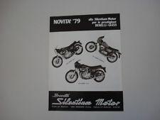 advertising Pubblicità 1979 SILENTIUM e MOTO BENELLI SPORT 125/354/504