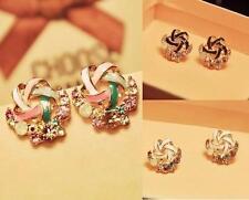 HOT Women New Crystal Multi Colour Rhinestone Ear Stud Vintage Earrings