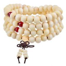 White & Red Sandalwood Mala Beads, Wood Prayer Bead - 108 - Buddhist Buddhism