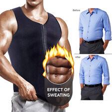 Men's Neoprene Sauna Suit Hot Thermo Sweat Body Shaper Waist Trainer Corset Vest