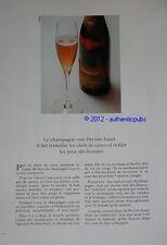PUBLICITE 1971 CHAMPAGNE PERRIER JOUËT EPERNAY BRILLE YEUX DES FEMMES AD IMPACT