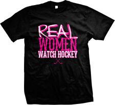 Real Women Watch Hockey Sticks Ice Girls Sports Mens T-shirt