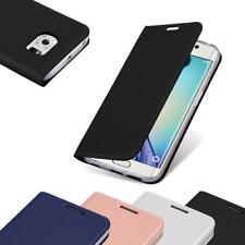 Custodia Cover per Samsung Galaxy S6 EDGE PLUS Metallico Case Libro Portafoglio