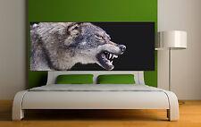 Sticker tête de lit décoration murale Loup  réf 3672 (5 dimensions)