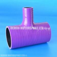 Silicone Hose T Piece Purple SELECT SIZE Demon Motorsport (Black Core)