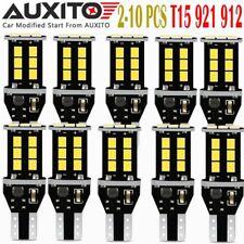LOT 2-10 PC 921 T15 912 W16W LED Back up Reverse Light BulbCANBUS ERROR 15E JM A