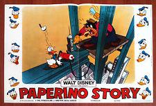 PAPERINO STORY fotobusta poster Walt Disney Donald Pete Cartoni Animati 1971