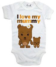 "Baby Body """" I Love My Mummy """"Teddybären Baby Body Mama Muttertagsgeschenk"