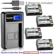 Kastar Battery LCD Charger for Konica Minolta NP-400 Maxxum 5D Maxxum 7D Camera