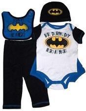 Batman Dc Comics Gift Set - Bib, Bodysuit, Pants, Hat, Cape - Baby Shower Gift