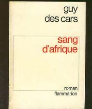 guy des cars - sang d'Afrique - roman -