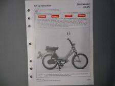 Honda Factory Setup Assembly Manual 1981 PA50