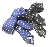 Cravatta a pois blu e bianca a pallini bianchi BAMBINO seta m Italy dai 3 anni