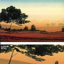 """36""""x24"""" SUNRISE I by ROBERT CHARON TREES LANDSCAPE SUNRISE BLUE ORANGE CANVAS"""