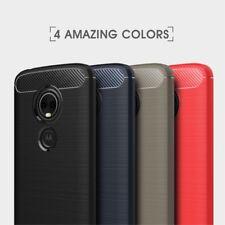Housse etui coque silicone gel carbone pour Motorola Moto E5 + film ecran