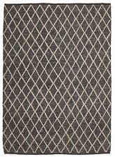 URBEN Nz-Wool Cotton Brown Modern Morrocan Thick Floor Rug 25mm 3 sizes