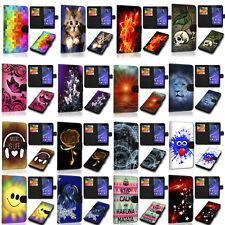 Design Handy Tasche Book Auswahl 7 für  Alcatel U5 4G 5044D  Etui Cover Hülle