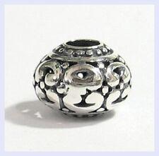 .925 Sterling Silver Round Pattern Swirl Dots Bead for European Charm Bracelet