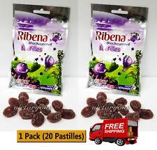 Ribena Blackcurrant Pastilles Confectionery Sweet Candy Pack Vitamin C HALAL