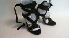 No Doubt Ladies Strappy Gladiator Heels - Black - UK Sizes 4-7