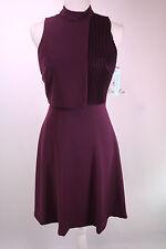 Antonio Melani New Batie Mock Neck Pleated Crepe Dress Size 0 2 4 6 10 12 14 NWT