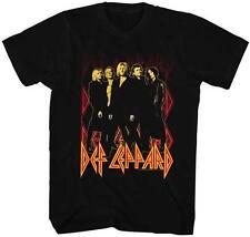 ON FIRE PHOTO Def Leppard English Rock Band Heavy Metal Hard Rock Adult T-Shirt