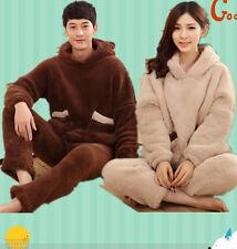Unisex Adult Pajamas Bear Kigurumi Cosplay Costume Animal Sleepwear  Hoodie~