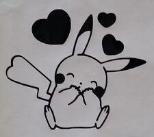 Sticker pokemon pikachu coeurs, pour déco voiture, chambre, salon, porte etc..