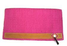 Showblanket mit Lederbesatz und Tassel in Pink Western Satteldecke ca 86x92cm