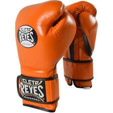 Cleto Reyes Lace Up Hook and Loop Hybrid Boxing Gloves - Tiger Orange