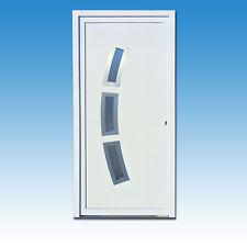 Haustür Türen Kunststoff neu weiß Eingangstür CK-17