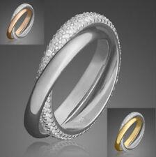 Ring ECHT 925 Silber / Gold / Rose Zirkonia Schmuck Geschenke Damen Silberringe