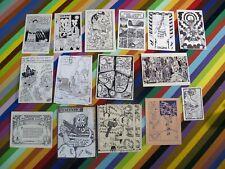 vtg 1980s underground mini comic - postcards and prints Lewis XEX Deitch +