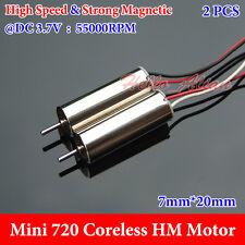 2PCS DC 3.7V 55000RPM High Speed Mini 7*20mm  Coreless HM Motor Drone Quadcopter