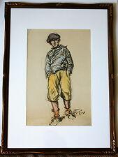 Jacques VAILLANT (1879-1934)- France -WC- Boy with Cap