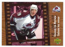 07-08 McDonalds Canada Joe Sakic Season in Review Insert #SR6 Mint