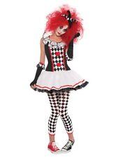 Teen Age 10-16 Harlequin Honey Traje Chicas Bufón Halloween Disfraz Payaso