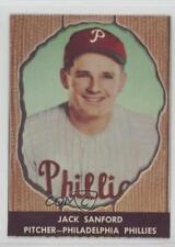 1958 Hires Root Beer Food Issue Base #39 Jack Sanford Philadelphia Phillies Card