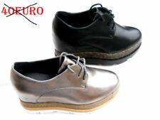 scarpe donna sneakers sportive zeppa interna 7 cm ginnastica  platform 35 A 40 l