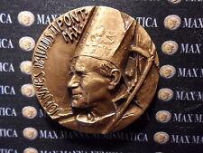 MEDAGLIA GIOVANNI PAOLO II BRONZO VISITA PASTORALE TROIA RARA 25/MAGGIO/1987