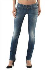 Pepe Jeans London Venus NEU Denim Hüfthose Blau Used W30 / L34 Damen L224 X22
