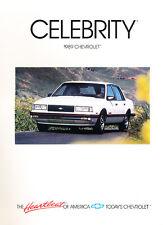 1989 Chevrolet Celebrity Original Sales Brochure Catalog - Chevy Eurosport