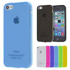 TPU Case iPhone 5C Silikon Hülle Schale Cover Matt Clear Staub Schutz Folie