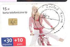 Prison Poland - Zakład Karny - round stamp on chip card