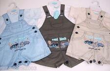 Bimbo bambini estate auto motivo t-shirt & salopette set 0-3, 3-6 & 6-9 mesi