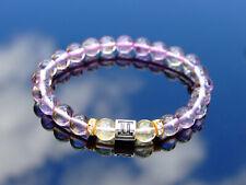 Gemini Ametrine Citrine Birthstone Bracelet 6-9'' Elasticated Healing Stone