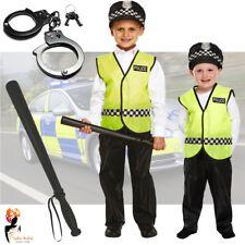 Boys Kids Policeman Officer Fancy Dress School Costume Constable Safe Neighbour