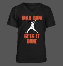 Mad Bum Gets it Done - Men's V-Neck T-Shirt - San Francisco Giants Bumgarner SF