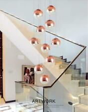 LED Glass Balls Pendant Lamp Living Room Chandelier Duplex Staircase Drops Light