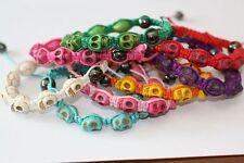 Emeco Armband TOTENKOPF SKULL  Beads und Hämatit Kugel GLÜCKSBRINGER SHAM-TON